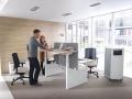 Mikomax Balance zit sta bureau staand werken en overleggen