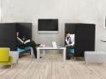 Mikomax bureautafel en akoestisch werkplekken