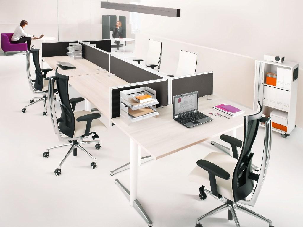 Mikomax werkplekken luna for Office design furnishings ypsilanti mi