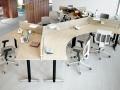 Mikomax Luna bureau met scheidingswanden