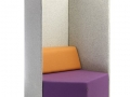 Mikomax Penta zitbank met hoge akoestische rugleuning scheidingswand voor onafgeleid lezen en werken