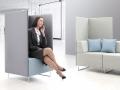 Mikomax Quadra soft seating akoestische scheidingswanden ongestoord converseren