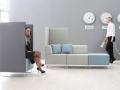 Mikomax Quadra soft seating akoestische scheidingswanden ongestoord werken