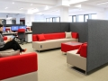 Mikomax Quadra soft seating akoestische scheidingswanden zonder overlast