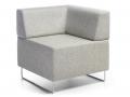 Mikomax Quadra soft seating modulair zitelement wachthal entree receptie
