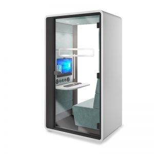 Hybrid Zoom meeting videoconferentie