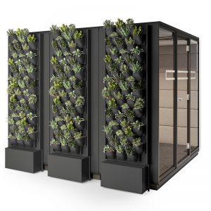 Vergadercabine met green wall 2xm